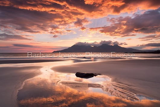 """Isle of Eigg. Singing Sands Sunset. Highlands and Islands. Scotland."" by photosecosse /barbara jones 