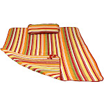 Sunnydaze Decor Polyester Quilted Hammock Pad and Pillow Set, Tropical Orange Stripe