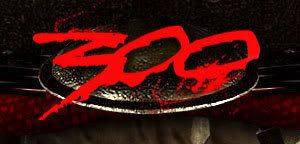 The logo for Frank Miller's upcoming film '300'.