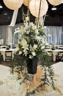 Utah Wedding/Event Buffet Table Centerpiece (White and