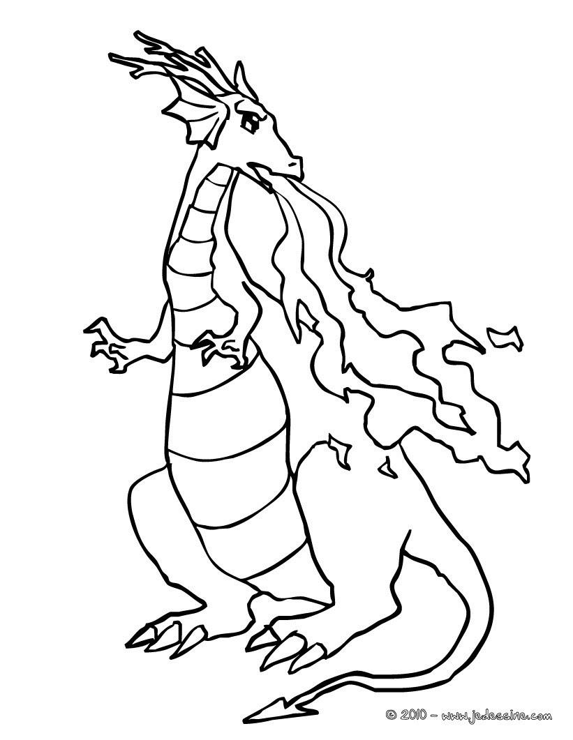 Coloriages Dragon Qui Crache Des Flammes Frhellokidscom