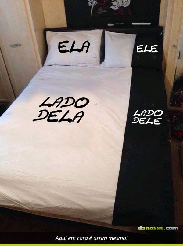 Divisão da cama de casal!