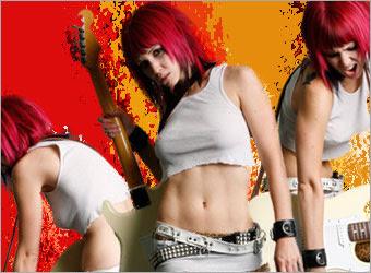 Creating a Grunge Rock Poster image 9