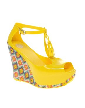 Image 1 of Melissa Peace Printed Tassel Wedges