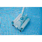 Intex Automatic Pool Vacuum & Krystal Clear 3000 GPH Sand Filter Pump (2 Pack)