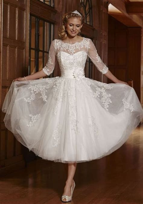 whiteivory short lace wedding dress bridal gowns size