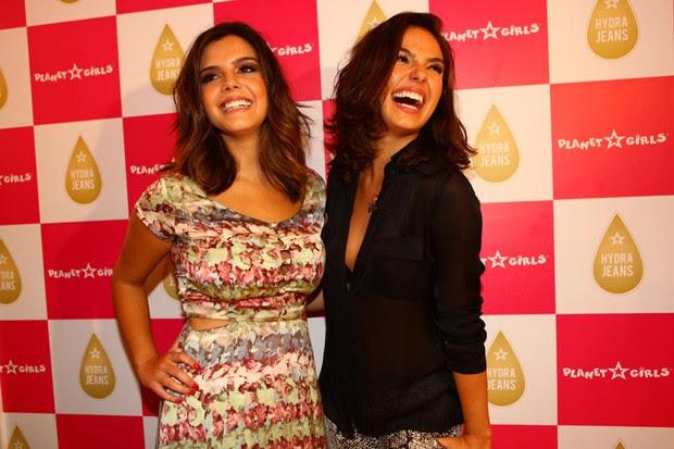 GIovanna Lancellotti e Isis Valverde em evento de loja em São Paulo (Foto: Iwi Onodera / EGO)