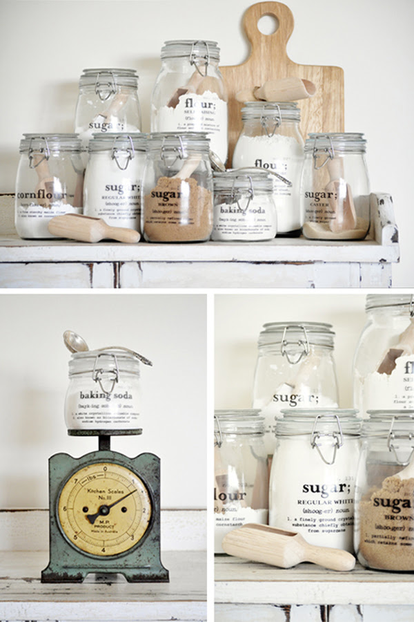 Glass canister pantry storage Kitchen Storage Solutions for Easy Organization
