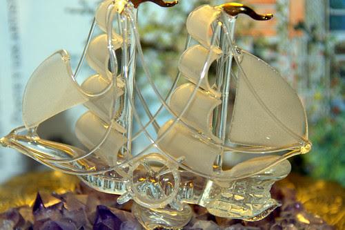 un velero de cristal