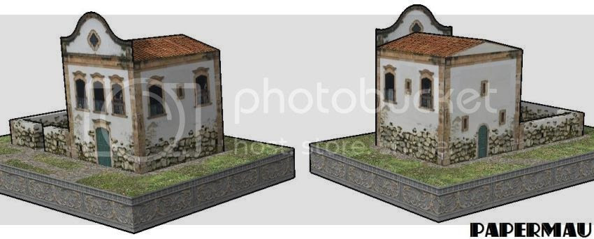 photo Brazilian Colonial House Paper Model via Papermau 02_zpsmsnqaiae.jpg