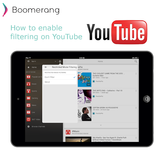 How to enable filtering on YouTube -