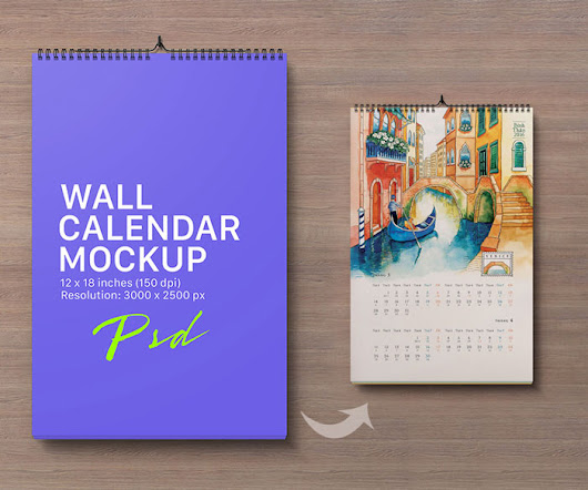 30 Best Free Table, Desk Tent & Wall Calendar Mockup PSD Files
