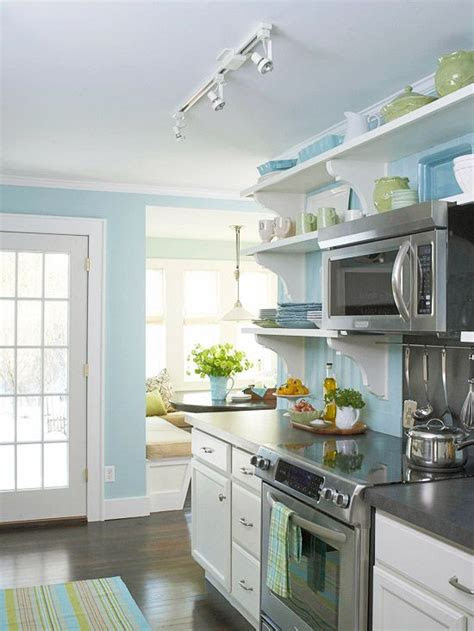 blueyellow kitchens images  pinterest home