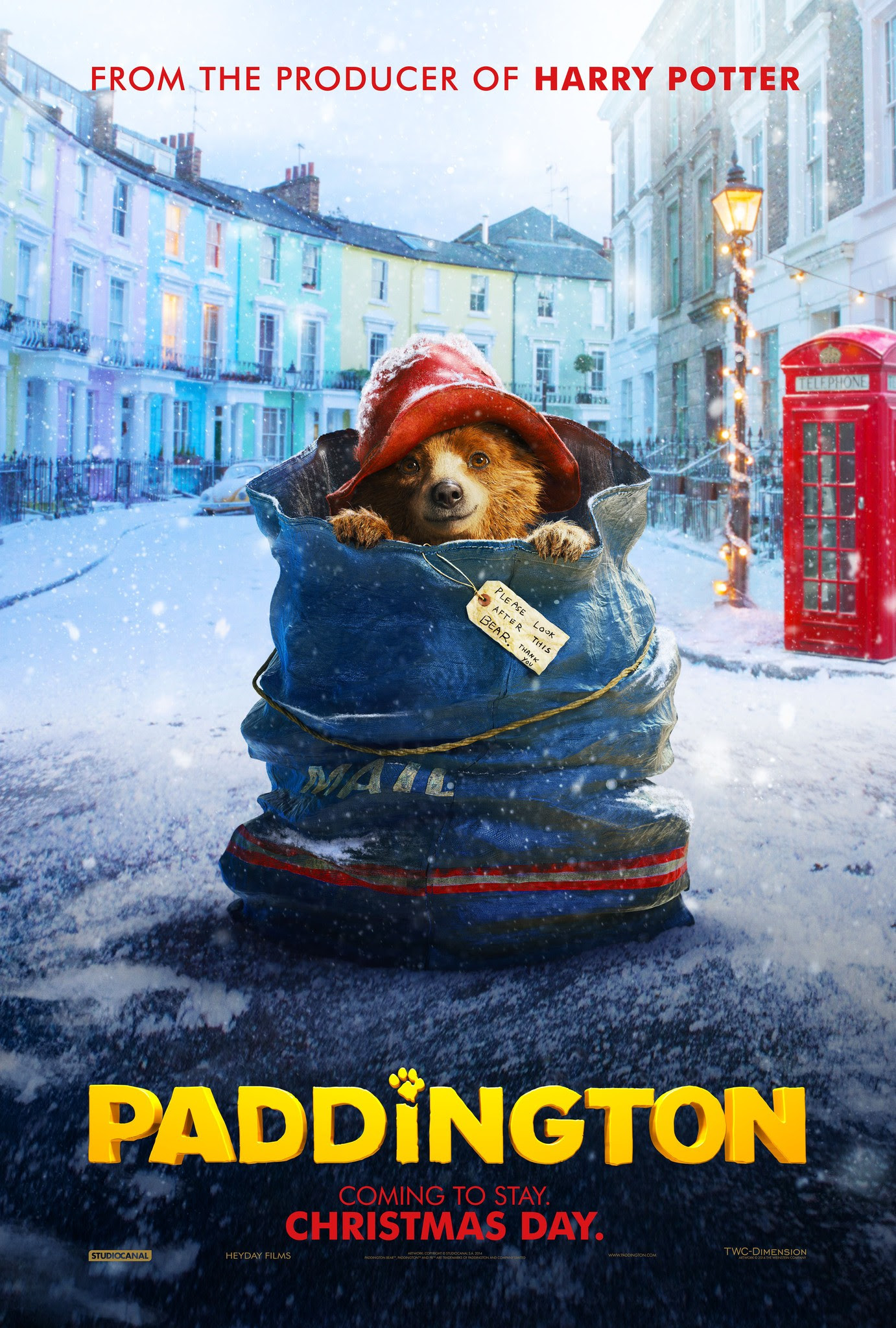 Mega Sized Movie Poster Image for Paddington Bear