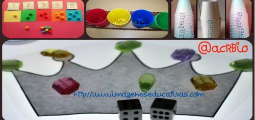 Manipulativos Matemáticos diferentes conceptos Collage Portada