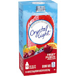 Crystal Light Drink Mix, Fruit Punch - 10 packets, 0.09 oz each