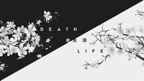 general  dark white life death kanji japan