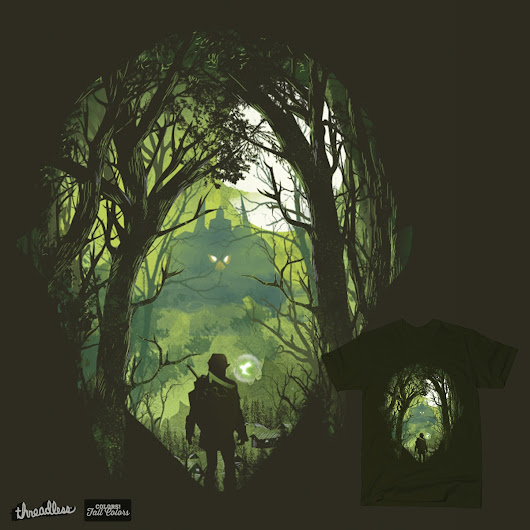 It's dangerous to go alone on Threadless
