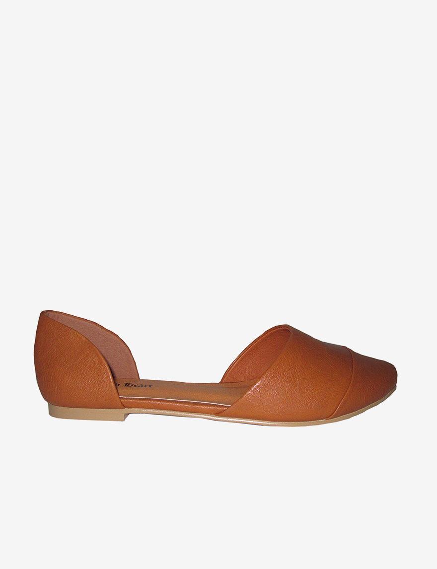 N.Y.L.A. Caiden D'orsay Flats- Ladies - Tan - 9 M - N.Y.L.A. Shoes