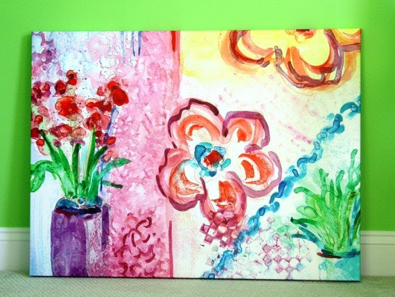 Giclee Print on Gallery Wrapped Canvas - Colorful Abstract