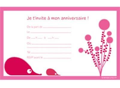 Exemple Carte D'invitation Anniversaire Gratuite, Imprimer...   LisaoycWilson site