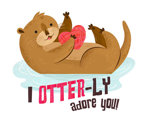 I Otter-ly Adore You Valentine