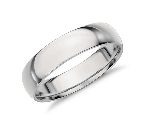 mid weight comfort fit wedding band  platinum mm