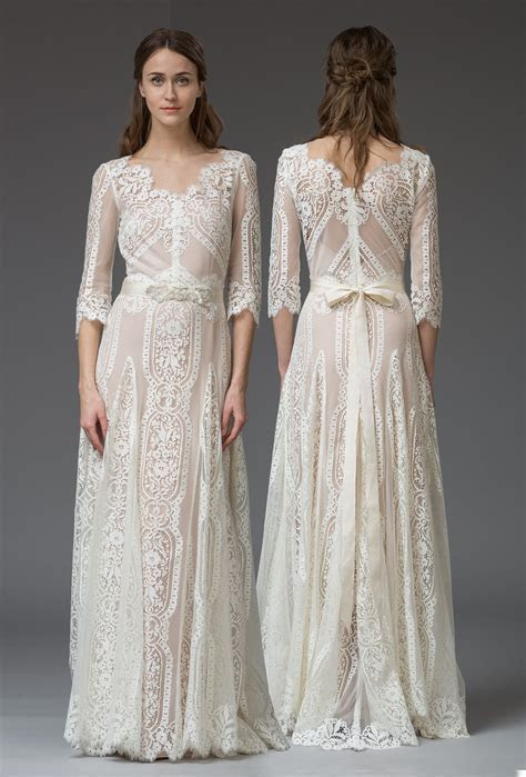 Graphic French lace wedding dress, 'Violetta' by KATYA