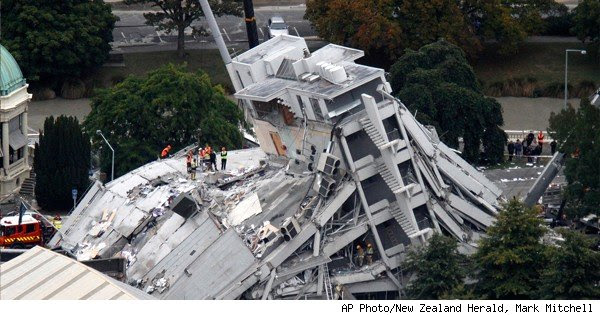 toppled building in christchurch