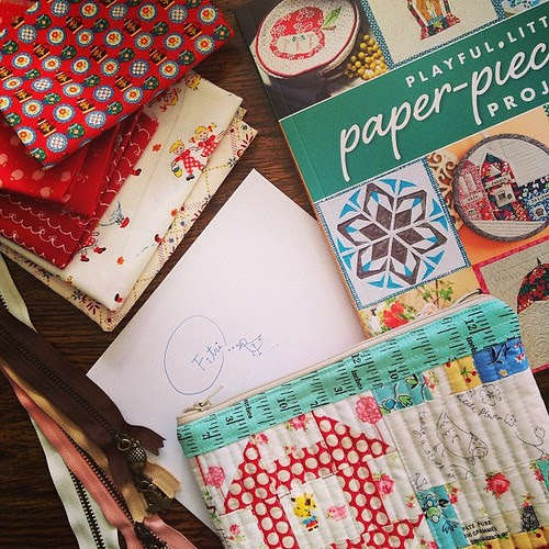 Someone made me cry by sending this beautiful stuffs for me. Thank you so much dear Chase, your friendship is mean a lot to me  #love #friendship #beautiful #patchwork #crafting #book #fabric #japanesefabric #vintage #note by Fitri D. // Rumah Manis
