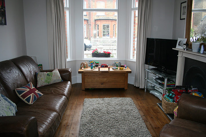 Homes - in pictures: Victorian front room budget make-over