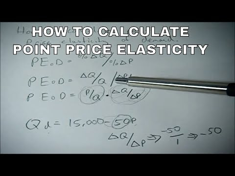 How To Calculate Point Price Elasticity Of Demand With Examples