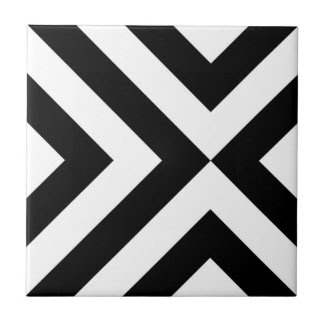 Black and White Chevrons Tiles