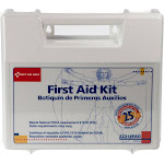 First Aid Only 223-U 25-Person First Aid Kit in Plastice Case with Dividers, White