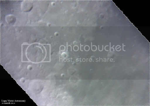 Astronomy through the telescope. Lunar twin craters Sabine and Ritter.