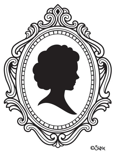 cameo frames drawing cameo image vector clip art