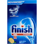 Finish Advanced Automatic Dishwasher Detergent, Powder, Lemon Fresh Scent - 75 oz