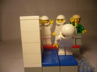 Human Tetris in LEGO style