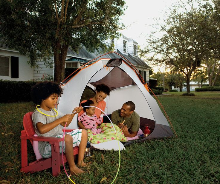 Ideas for camping in the backyard