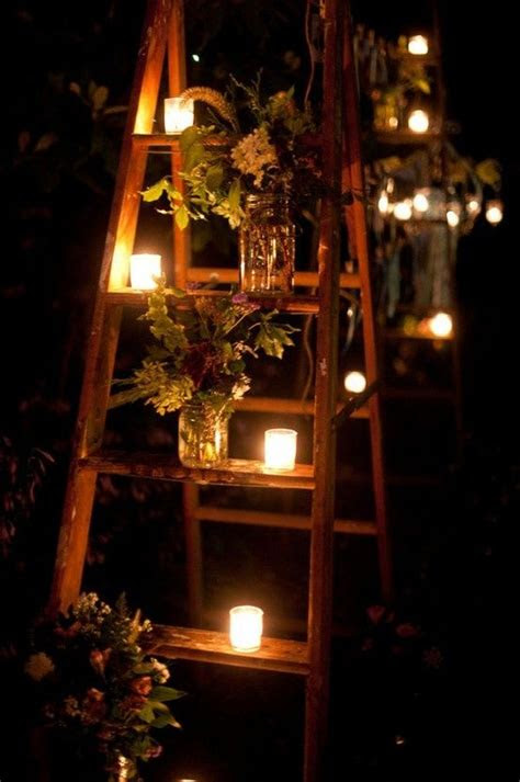 rustic country wedding decoration ideas  ladders