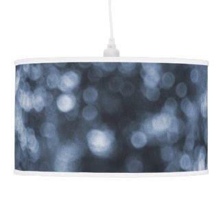 Blue Bokeh Hanging Pendant Lamp