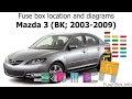 2008 Mazda 3 Diagram