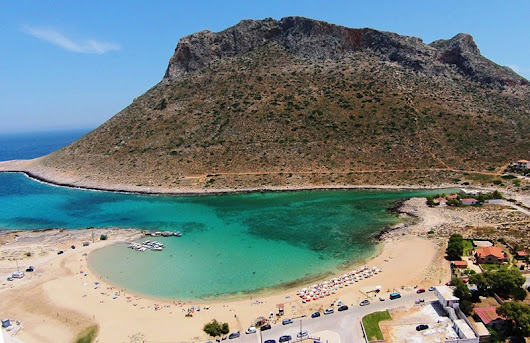 Stavros Beach In Crete - Crystal Clear Sea In A Special Landscape