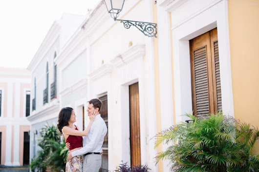 Romantic Stroll through Old San Juan for an Engagement Session