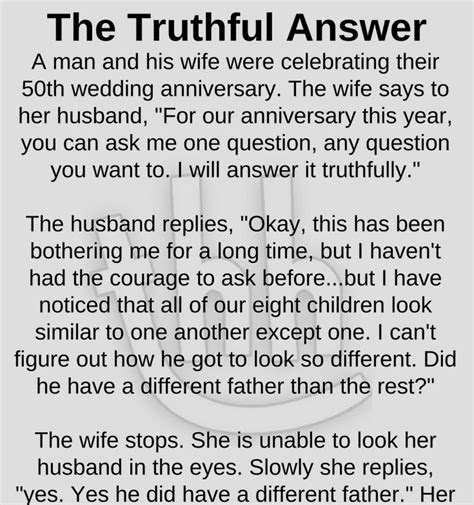 The Truthful Answer on 50th Wedding Anniversary   So true