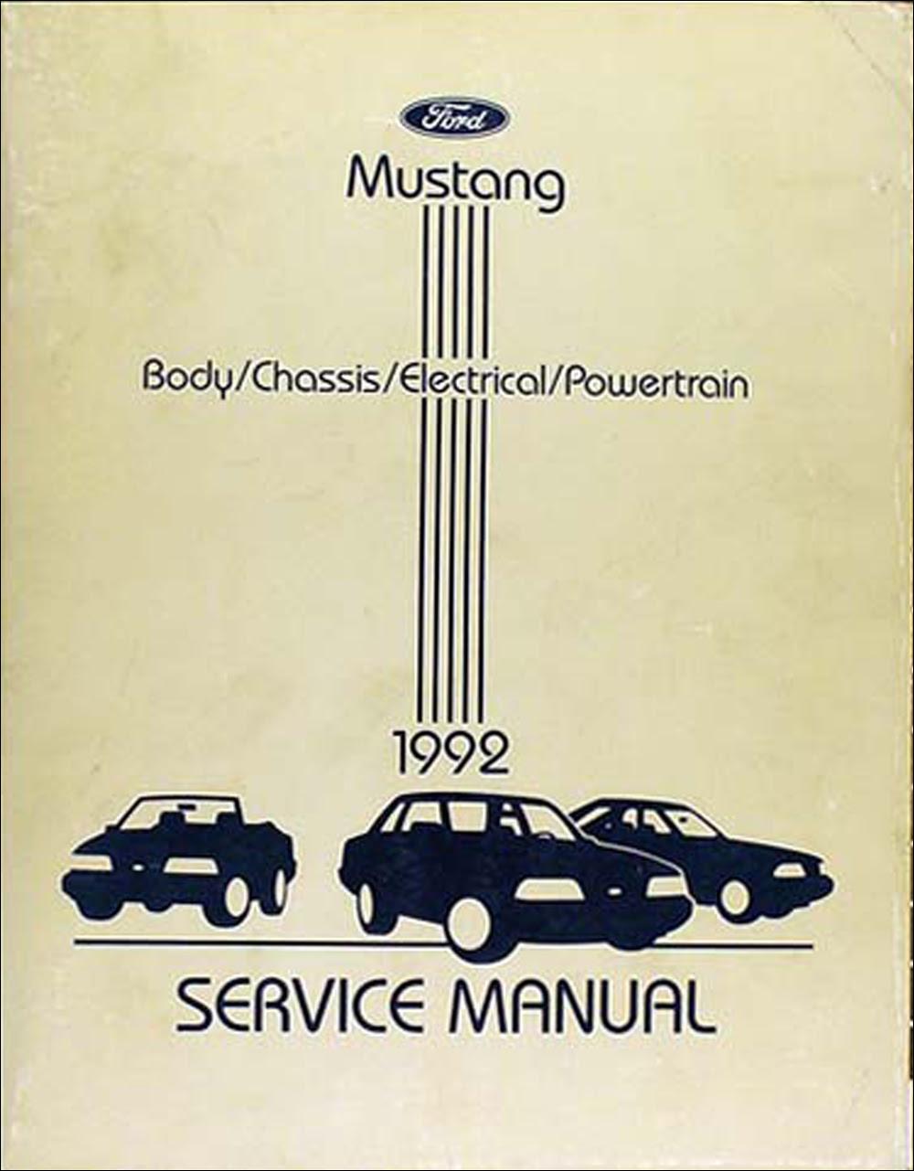 1992 Ford Mustang Factory Foldout Wiring Diagram Original