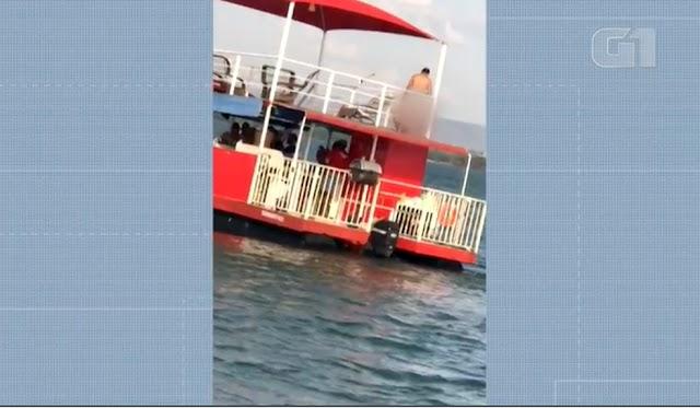 Casal faz sexo em flutuante no lago de Palmas e vídeo viraliza nas redes sociais