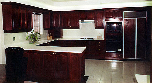 Award Kitchen Refacers P A Dark Stained Wood Kitchen Can Look Good In Veneer Or Solid Wood Br Both Types Of Doors Can Replace Your Old Doors At A Fraction Of The