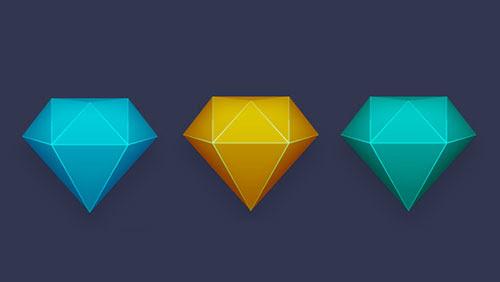 Diamond-Icon-Easy-Illustrator-CC-Tutorial