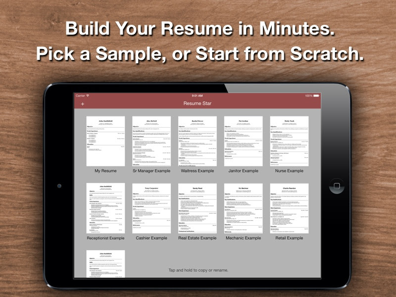 Resume Star Top Rated Resume Designer For The Iphone Ipad And